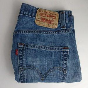Levis 569 straight blue jeans men's size 30 X 30
